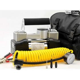 Компресор за гуми 12V Handle с 2 бутала ( 30 Ampera ) Super MAX от HopShop.Bg.