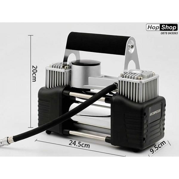 Компресор за гуми 12V Handle с 2 бутала ( 30 Ampera ) Super MAX от категория КОМПРЕСОРИ,ПОМПИ