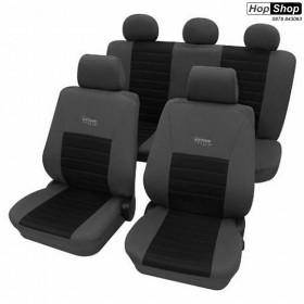 """Автотапицерия за седалки черно + сиво -  """"Active Sports"""" от HopShop.Bg."""