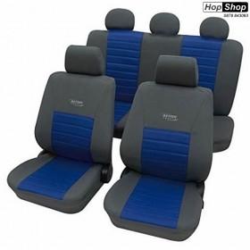"""Автотапицерия за седалки синьо + сиво -  """"Active Sports"""" от HopShop.Bg."""