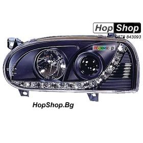 Фарове (Daylights) за VW Golf 3 (92-97) - черни от HopShop.Bg.