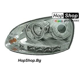 Фарове за VW Golf 5 (2003-) - бели (ел. управление) от HopShop.Bg.