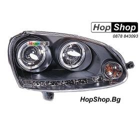 Фарове за VW Golf 5 (2003-) - черни (ел. управление) от HopShop.Bg.