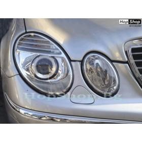 Фарове за Mercedes E Class W211 (2002-2008) - бели от HopShop.Bg.