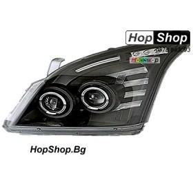 Фарове за Toyota Land Cruiser Prado (02-09) - черни от HopShop.Bg.
