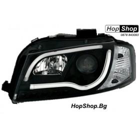 Кристални фарове Lightbar Design за Ауди А3 (2003-2008) - черни от HopShop.Bg.