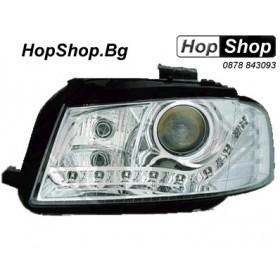 Кристални фарове DAYLINE AUDI A3 (03-08) - хромирани от HopShop.Bg.