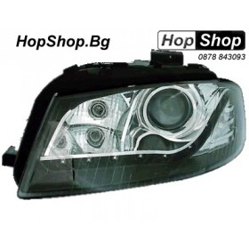 Кристални фарове DAYLINE AUDI A3 (03-08) - черни от HopShop.Bg.
