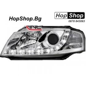Кристални фарове DAYLINE AUDI A3 (03-08) - хром от HopShop.Bg.