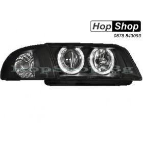 Фарове за Audi A4 с отделен мигач (95-98) - черен от HopShop.Bg.