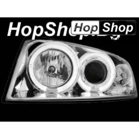 Кристални фарове за AUDI A4 (01-04)  бял от HopShop.Bg.