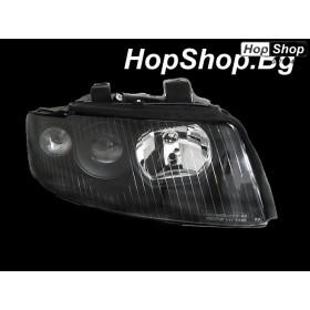Кристални фарове AUDI A4 B6 (01-04) - черни от HopShop.Bg.