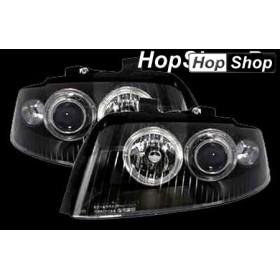 Кристални фарове Angel Eyes AUDI A4 (01-04) - черни от HopShop.Bg.