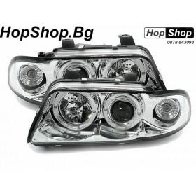 Кристални фарове за AUDI A4 (95-98)  бял от HopShop.Bg.