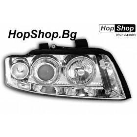 Кристални фарове AUDI A4 B6 (01-04) - бели от HopShop.Bg.