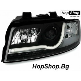 Кристални фарове за Ауди A4 B6 Lightbar Design (2001-2004) - чер от HopShop.Bg.