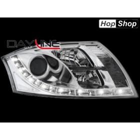 Кристални фарове с дневни светлини Ауди TT (98-05) - хром от HopShop.Bg.