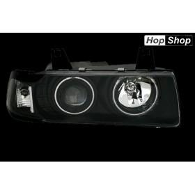 Кристални фарове CCFL Angel Eyes BMW E36 (91-99) - черни  4вр от HopShop.Bg.