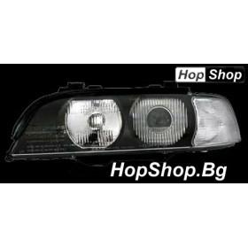 Кристални фарове BMW E39 (95-00) - бял мигач от HopShop.Bg.