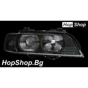 Кристални фарове BMW E39 (95-00) - черен мигач от HopShop.Bg.