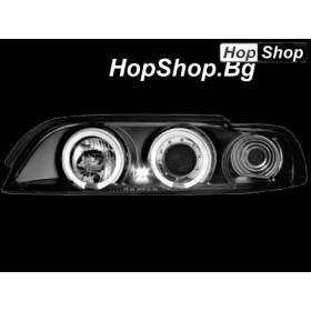 Кристални фарове Angel Eyes BMW E39 (95-00)  черни от HopShop.Bg.
