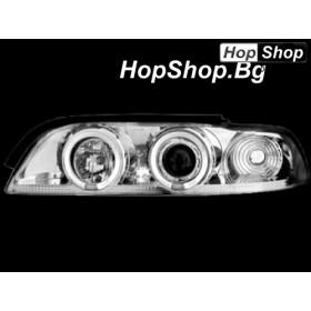 Кристални фарове Angel Eyes BMW E39 (95-00) : бял от HopShop.Bg.