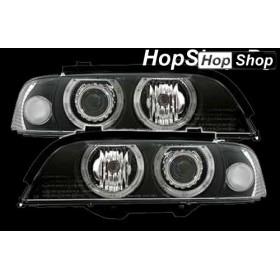 Кристални фарове Angel Eyes BMW E39 (95-00) : черни от HopShop.Bg.