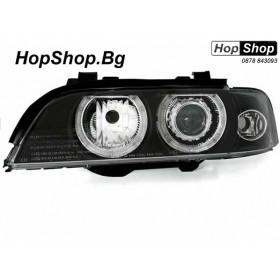 Кристални фарове Angel Eyes BMW E39 (95-00) цвят: черни от HopShop.Bg.