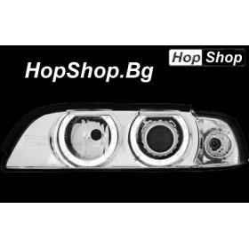 Кристални фарове Angel Eyes BMW E39 (95-00)  бял от HopShop.Bg.
