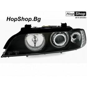 Кристални фарове с Ангелски Очи CCFL  БМВ E39 (95-03) черни от HopShop.Bg.