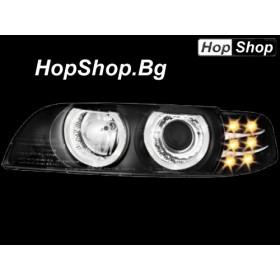 Кристални фарове Angel Eyes BMW E39 (95-00) - черни от HopShop.Bg.
