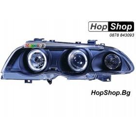 Фарове за BMW E46 4D (98-01) - черни (ел. регулиране) от HopShop.Bg.