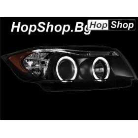 Кристални фарове BMW E90 (05-08) - черни от HopShop.Bg.