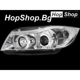Кристални фарове Angel Eyes BMW E90 (05+) - хром от HopShop.Bg.