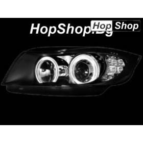 Кристални фарове Angel Eyes BMW E90 (05-09) - черни от HopShop.Bg.