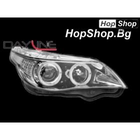 Кристални фарове BMW E60 (03-07) - хром от HopShop.Bg.