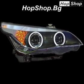 Кристални фарове BMW E60 (03-07) F10-Look (за фабричен ксенон) от HopShop.Bg.