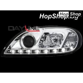 Кристални фарове DAYLINE CITROEN SAXO (00-04)- хром от HopShop.Bg.