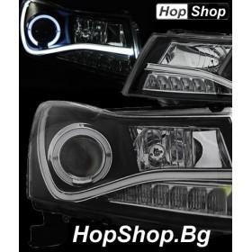 Кристални фарове Chevrolet Cruze (2009-2012) - черен от HopShop.Bg.