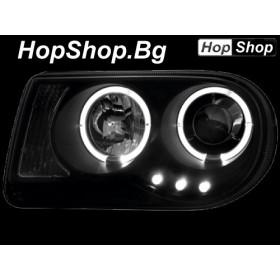 Кристални фарове Angel eyes Chrysler 300C (04-08) - черен от HopShop.Bg.
