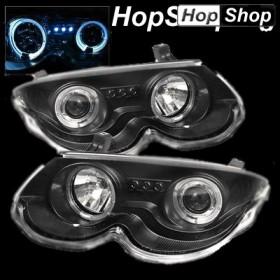 Кристални фарове Angel eyes Chrysler 300M (99-04) - черни от HopShop.Bg.