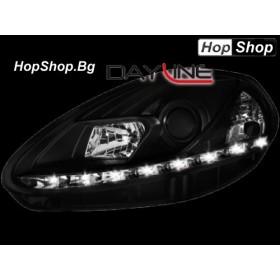 Фарове с дневни светлини FIAT Grande PUNTO (2005г - 08г) черни от HopShop.Bg.