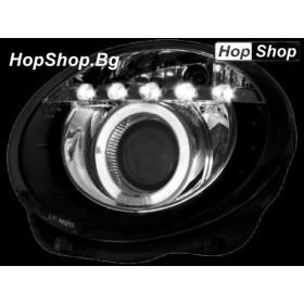 Фарове за FIAT 500 (07+) - черен от HopShop.Bg.