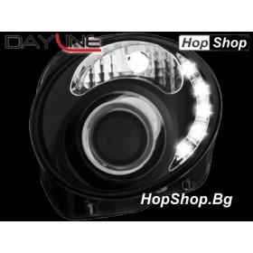 Фарове за DAYLINE FIAT 500 (07+) - черни от HopShop.Bg.