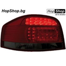 Диодни стопове AUDI A3 (03-08) - червени / опушен хром от HopShop.Bg.