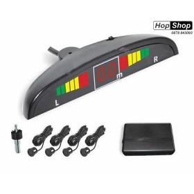 Парктроник с  дисплей - с черни датчици ( с бутон за спиране звук ) от HopShop.Bg.