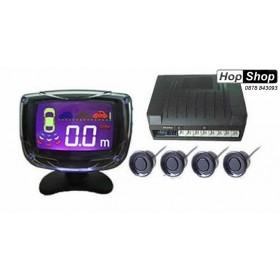 Парктроник с LED дисплей 3 Инча - черни датчици от HopShop.Bg.