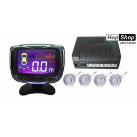 Парктроник с LED дисплей 3 Инча - сиви датчици от HopShop.Bg.