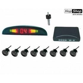 Парктроник с  дисплей - с 8 черни датчика ( с бутон за спиране звук ) от HopShop.Bg.