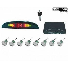 Парктроник с  дисплей - с 8 сиви датчика ( с бутон за спиране звук ) от HopShop.Bg.